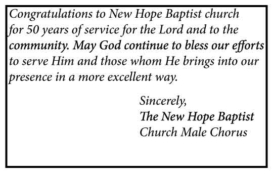 Celebrate New Hope Baptist Church 50th Anniversary